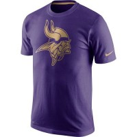 Men's Minnesota Vikings Nike Purple Championship Drive Gold Collection Performance T-Shirt