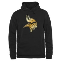 Men's Minnesota Vikings Pro Line Black Gold Collection Pullover Hoodie