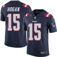 Men's New England Patriots #15 Chris Hogan Nike Navy Color Rush Elite Jersey