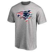 Men's New England Patriots Pro Line Heathered Gray True Color T-Shirt