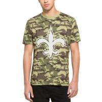 Men's New Orleans Saints '47 Camo Alpha T-Shirt