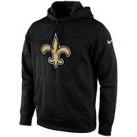 Men's New Orleans Saints Nike Black KO Logo Essential Hoodie 2