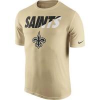 Men's New Orleans Saints Nike Gold Legend Staff Practice Performance T-Shirt