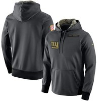 Men's New York Giants Nike Anthracite Salute to Service Player Performance Hoodie