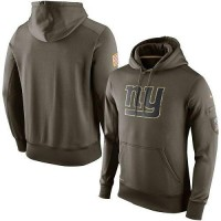 Men's New York Giants Nike Olive Salute To Service KO Performance Hoodie