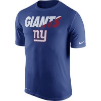 Men's New York Giants Nike Royal Blue Legend Staff Practice Performance T-Shirt