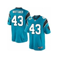 Men's Nike Carolina Panthers #43 Fozzy Whittaker Limited Blue Alternate NFL Jersey