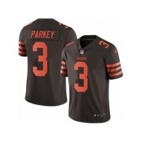 Men's Nike Cleveland Browns #3 Cody Parkey Limited Brown Rush NFL Jersey