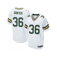 Men's Nike Green Bay Packers #36 LaDarius Gunter Elite White NFL Jersey