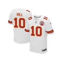 Men's Nike Kansas City Chiefs #10 Tyreek Hill Elite White NFL Jersey