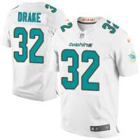 Men's Nike Miami Dolphins #32 Kenyan Drake Elite White NFL Jersey