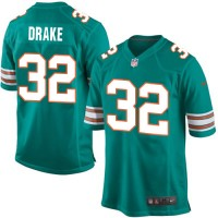 Men's Nike Miami Dolphins #32 Kenyan Drake Game Aqua Green Alternate NFL Jersey