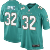 Men's Nike Miami Dolphins #32 Kenyan Drake Game Aqua Green Team Color NFL Jersey
