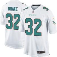 Men's Nike Miami Dolphins #32 Kenyan Drake Game White NFL Jersey