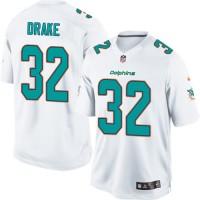 Men's Nike Miami Dolphins #32 Kenyan Drake Limited White NFL Jersey