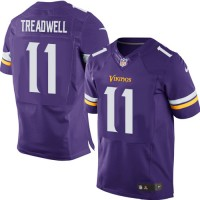 Men's Nike Minnesota Vikings #11 Laquon Treadwell Elite Purple Team Color NFL Jersey