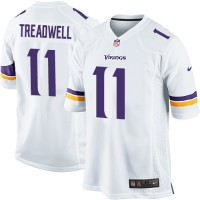 Men's Nike Minnesota Vikings #11 Laquon Treadwell Game White NFL Jersey