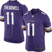Men's Nike Minnesota Vikings #11 Laquon Treadwell Limited Purple Team Color NFL Jersey