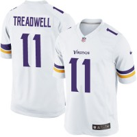 Men's Nike Minnesota Vikings #11 Laquon Treadwell Limited White NFL Jersey