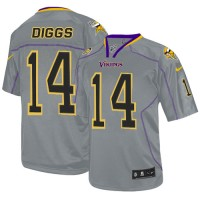 Men's Nike Minnesota Vikings #14 Stefon Diggs Elite Lights Out Grey NFL Jersey