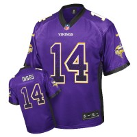 Men's Nike Minnesota Vikings #14 Stefon Diggs Elite Purple Drift Fashion NFL Jersey