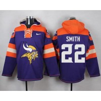 Men's Nike Minnesota Vikings #22 Harrison Smith Purple Player Pullover NFL Hoodie