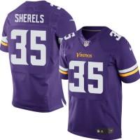 Men's Nike Minnesota Vikings #35 Marcus Sherels Purple Elite NFL Jersey