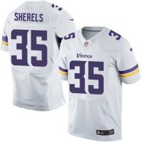 Men's Nike Minnesota Vikings #35 Marcus Sherels White Elite NFL Jersey