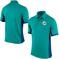 Men's Nike NFL Miami Dolphins Aqua Team Issue Performance Polo