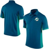 Men's Nike NFL Miami Dolphins Navy Team Issue Performance Polo