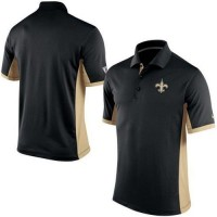 Men's Nike NFL New Orleans Saints Black Team Issue Performance Polo