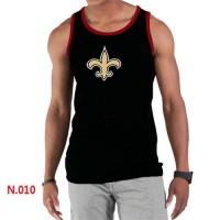 Men's Nike NFL New Orleans Saints Sideline Legend Authentic Logo Tank Top Black_2