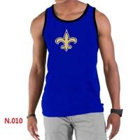 Men's Nike NFL New Orleans Saints Sideline Legend Authentic Logo Tank Top Blue
