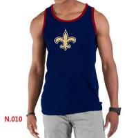 Men's Nike NFL New Orleans Saints Sideline Legend Authentic Logo Tank Top Dark Blue