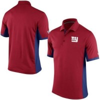 Men's Nike NFL New York Giants Red Team Issue Performance Polo