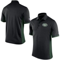 Men's Nike NFL New York Jets Black Team Issue Performance Polo