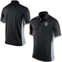 Men's Nike NFL Oakland Raiders Black Team Issue Performance Polo