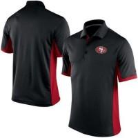 Men's Nike NFL San Francisco 49ers Black Team Issue Performance Polo