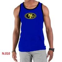 Men's Nike NFL San Francisco 49ers Sideline Legend Authentic Logo Tank Top Blue