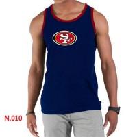 Men's Nike NFL San Francisco 49ers Sideline Legend Authentic Logo Tank Top Dark Blue