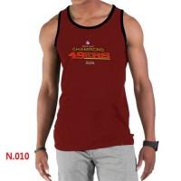 Men's Nike NFL San Francisco 49ers Sideline Legend Authentic Logo Tank Top Red_2