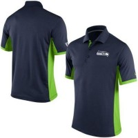 Men's Nike NFL Seattle Seahawks College Navy Team Issue Performance Polo