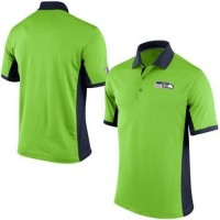 Men's Nike NFL Seattle Seahawks Neon Green Team Issue Performance Polo