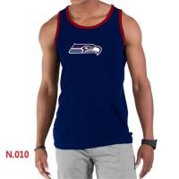 Men's Nike NFL Seattle Seahawks Sideline Legend Authentic Logo Tank Top Dark Blue