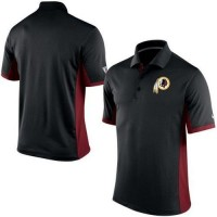 Men s Nike NFL Washington Redskins Black Team Issue Performance Polo b629e9a38
