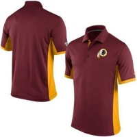 Men's Nike NFL Washington Redskins Burgundy Team Issue Performance Polo
