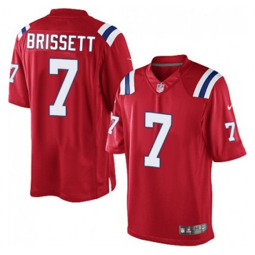 b6a76d454 Men s Nike New England Patriots  7 Jacoby Brissett Limited Red Alternate  NFL Jersey