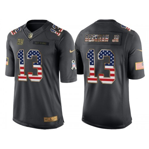 Men s Nike New York Giants  13 Odell Beckham Jr Anthracite Stitched NFL  Limited Salute to Service ... 862fa67c0