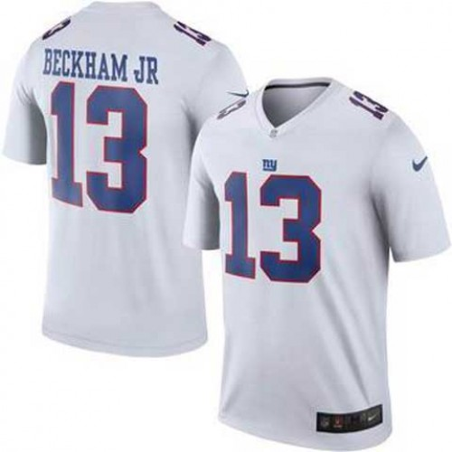 95939824839 Men's Nike New York Giants #13 Odell Beckham Jr White Color Rush Limited  Jerseys