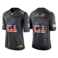 Men's Nike New York Giants #21 Landon Collins Anthracite Stitched NFL Limited Salute to Service USA Flag Fashion Jersey